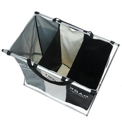 3 Sections Laundry Foldable Dirty Storage