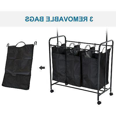 "33""L Hamper Cart Organizer Bar"