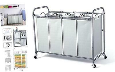 4 bag laundry sorter cart laundry hamper