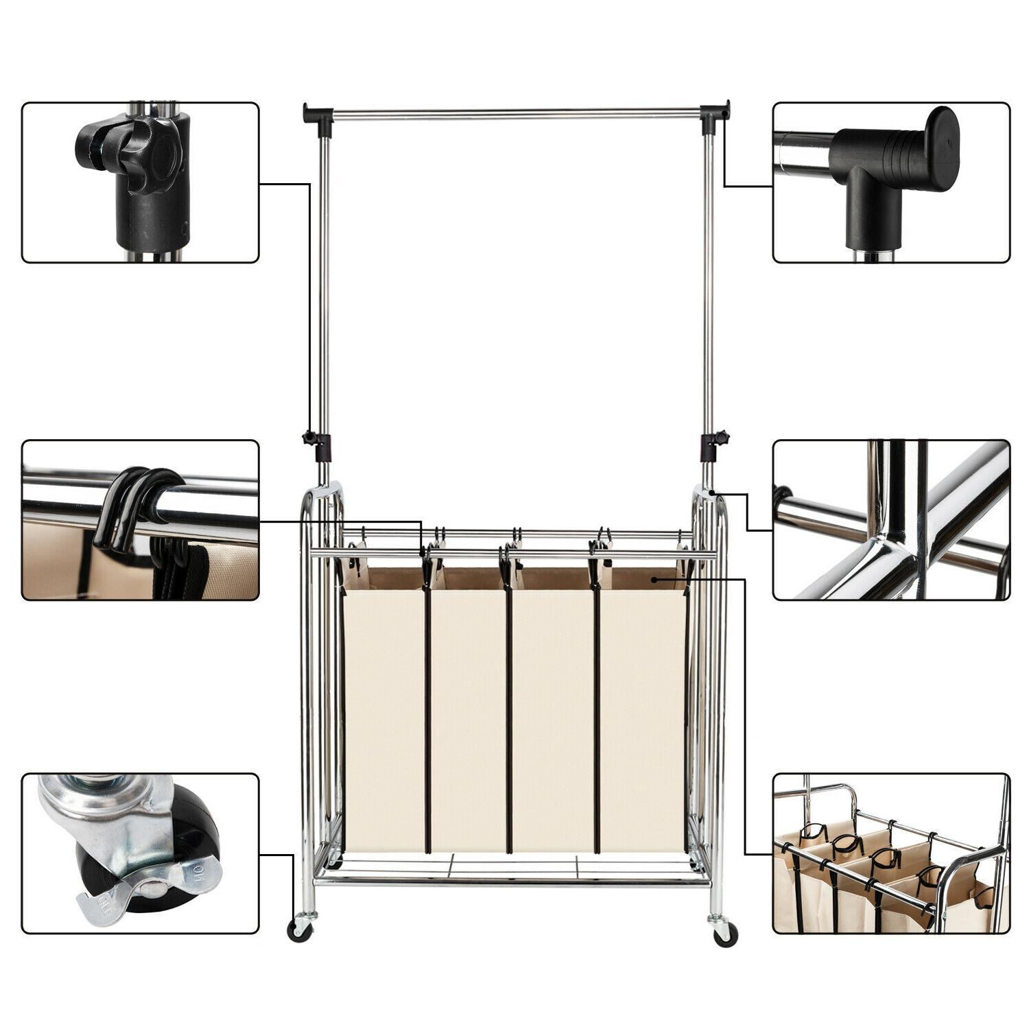 4-bags Sorter Hanging Laundry