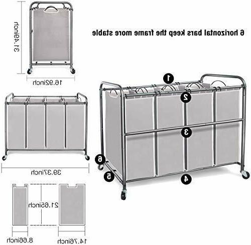 STORAGE MANIAC Laundry Sorter, 4 Heavy Du