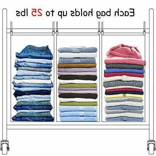 STORAGE Laundry 4 Bag Laundry Cart Heavy Du