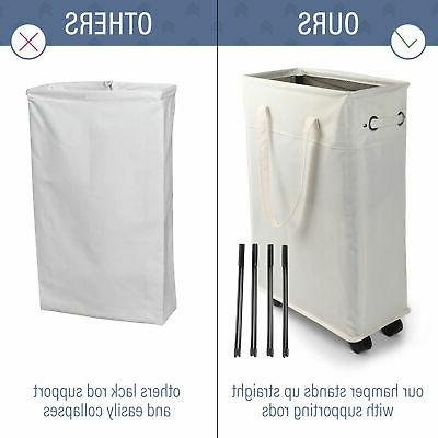 45L Laundry Hamper Collapsible Foldable Bag Washing