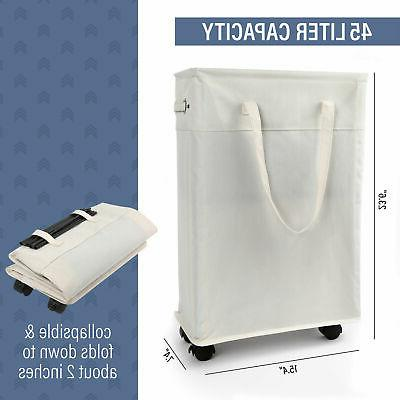 45L Laundry Collapsible Fabric Foldable Clothes Bag Washing