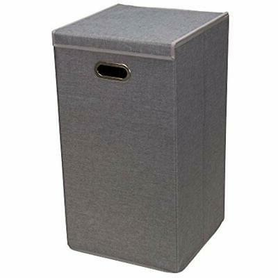 5620 collapsible single laundry hamper with magnetic