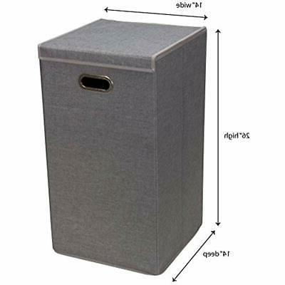 5620 Single Hamper With - Grey Home Kitchen