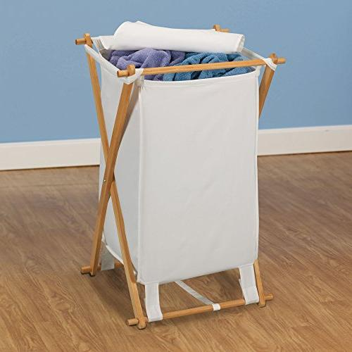 Household Essentials X-Frame W/Natural & Lid