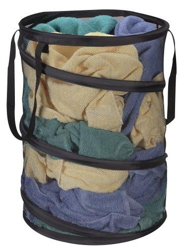 Household Essentials 2026 Pop-Up Collapsible Mesh Laundry Ha