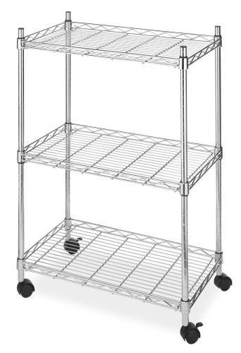 Whitmor 3 Tier Cart Utility Organizer - Chrome