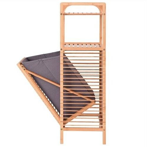 Bamboo Side with Shelves Clothes
