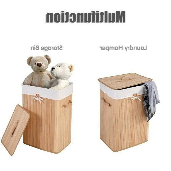 Bamboo W/Lid Double Clothes