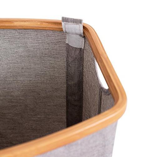 BirdRock & Canvas Double Lid Section Foldable Cut Grey Narrow Great Kids