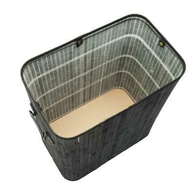 Bamboo Hamper Wicker Dirty Washing Storage Basket