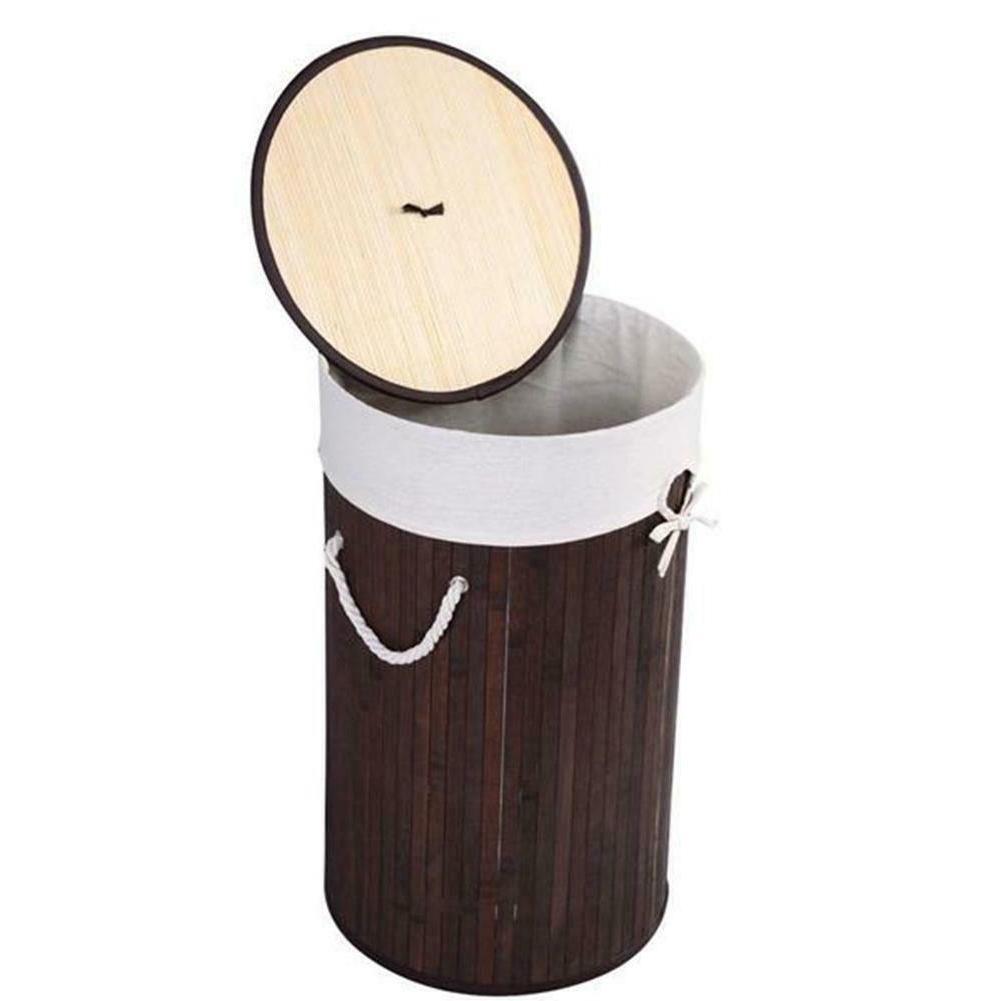 Bamboo Wicker Storage Bag Sorter Lid
