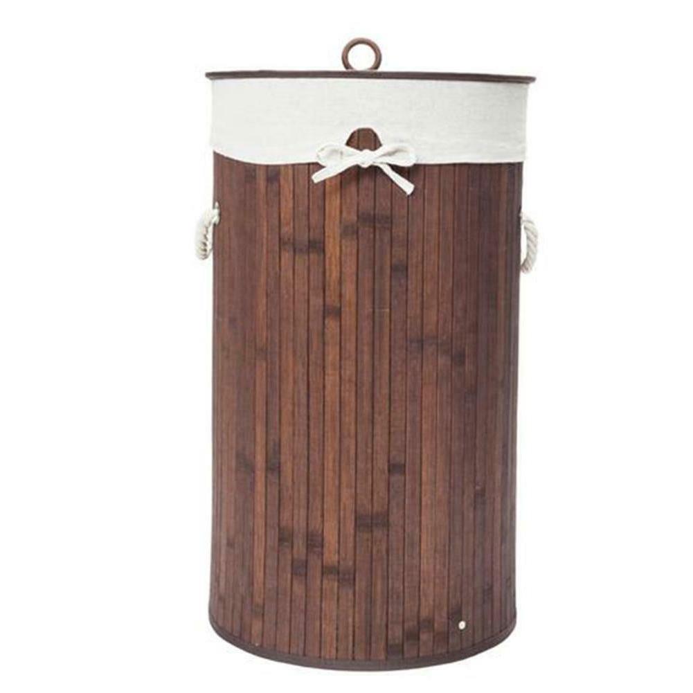 Bamboo Hamper Wicker Sorter Bin Lid