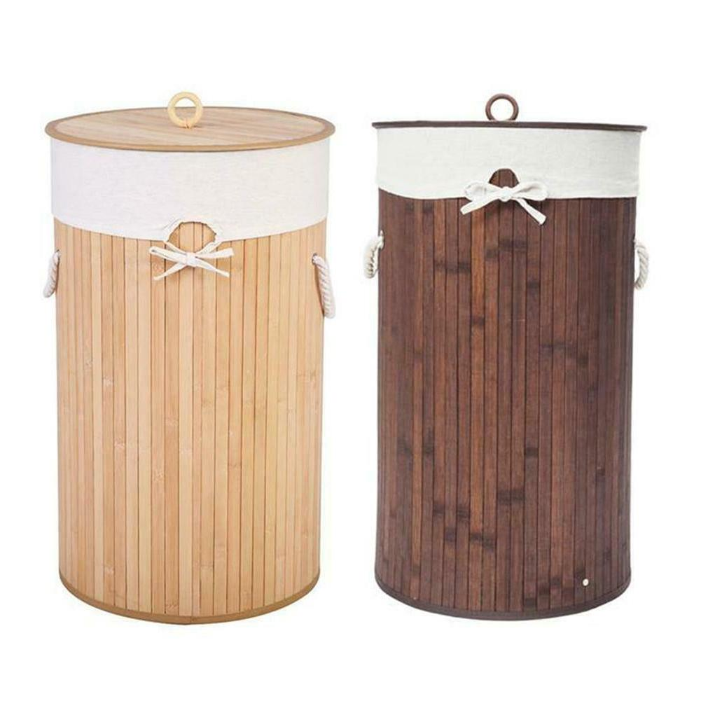 bamboo laundry hamper basket wicker clothes storage