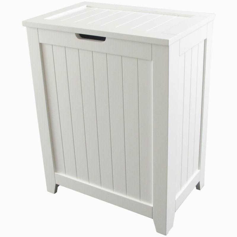 bathroom laundry basket dirty clothes hamper wooden