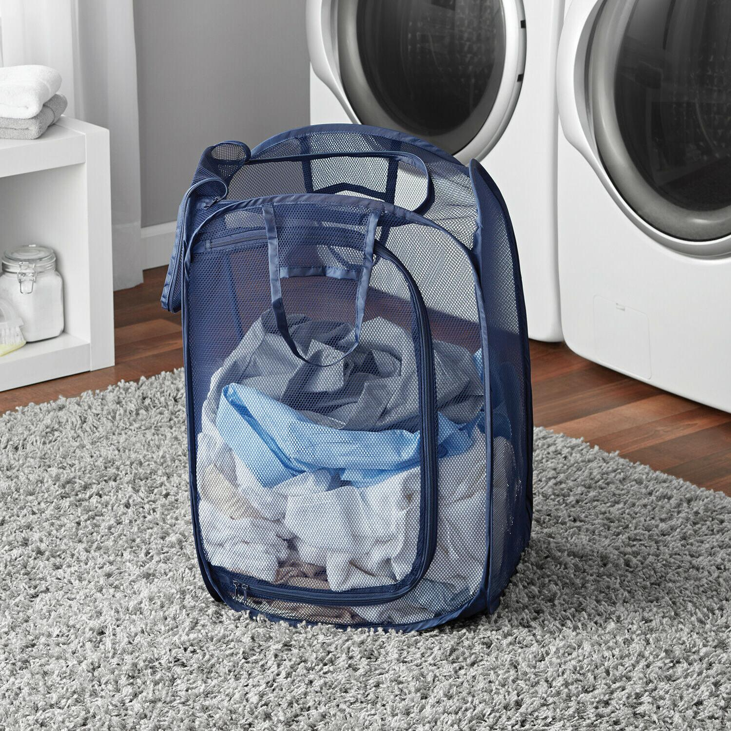 Collapsible Mesh Clothes Hamper One Basket*USA
