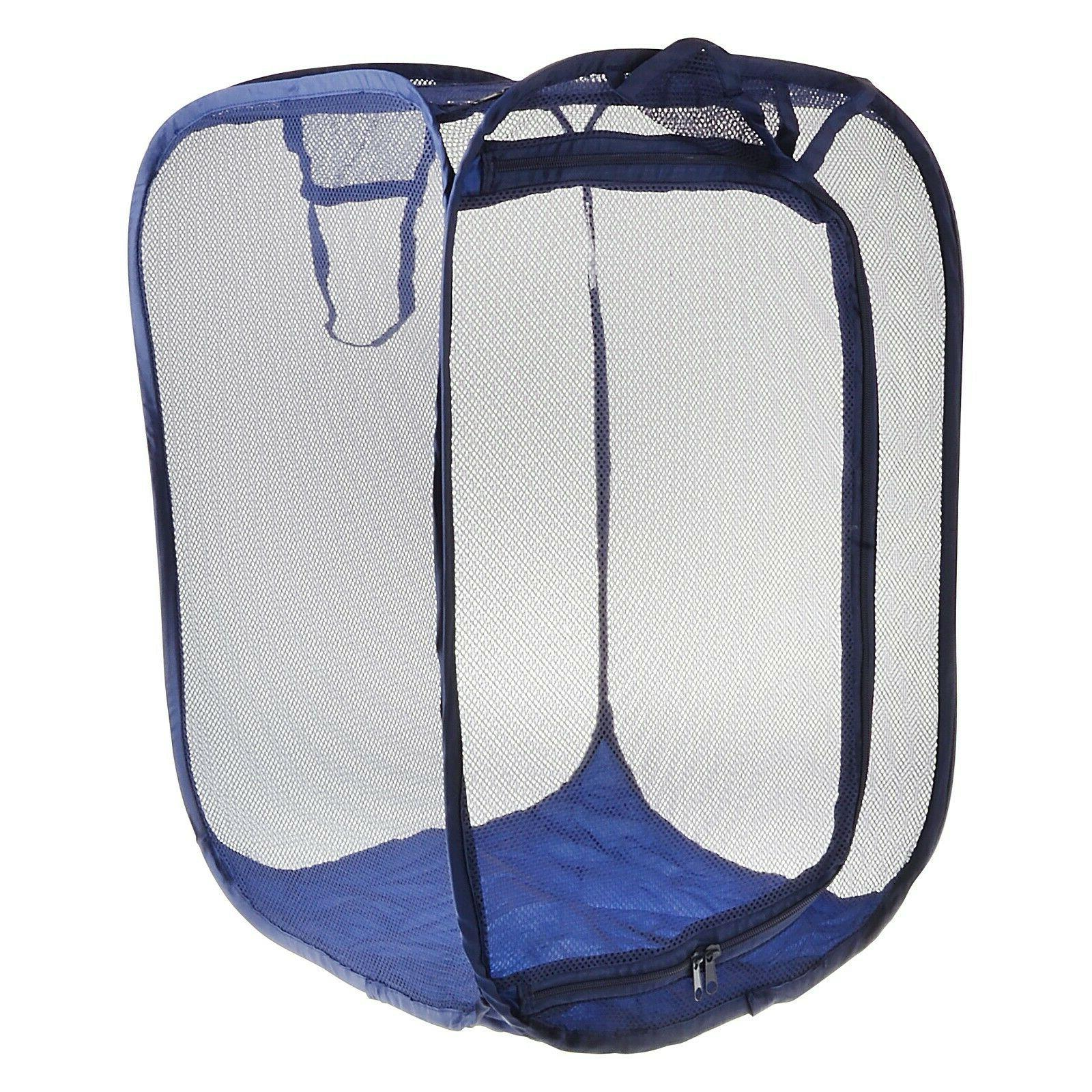 Collapsible 2-Way Mesh Clothes Hamper One Basket*USA SELLER*