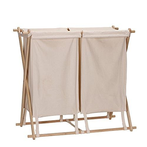 collapsible double frame laundry hamper