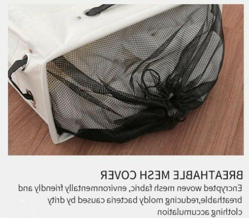Collapsible Laundry Basket oxford slim with roller foldable