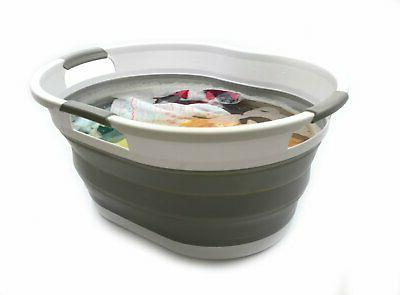 Collapsible Laundry Basket Bathtub Foldable Tub Baskets