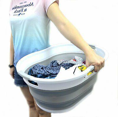 Collapsible Laundry Basket Bathtub Pop Foldable