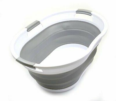 collapsible laundry basket portable bathtub pop up