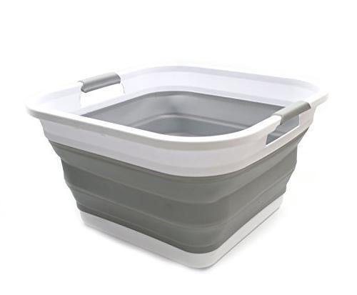SAMMART Collapsible Laundry Basket - - Portable Washing Tub - Hamper