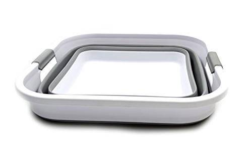 SAMMART Basket Square Tub/Basket - Foldable - Portable Washing - Laundry Hamper