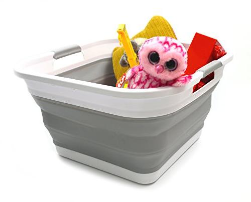 SAMMART Collapsible Plastic Basket - - Storage - Hamper
