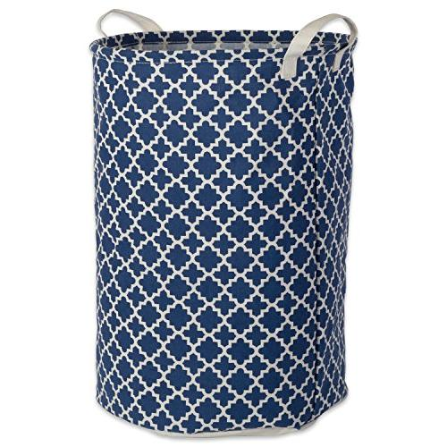 DII Cotton/Polyester Hamper In Your Dorm, 14 Nautical Blue