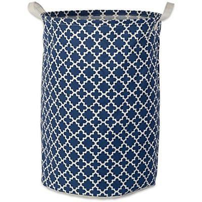 cotton polyester round laundry hamper