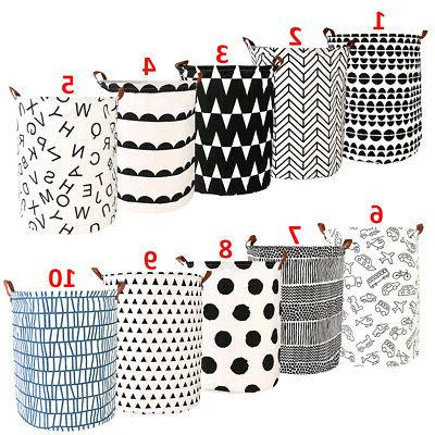 Large Folding Laundry Basket Bag Washing Cloth Foldable Stor