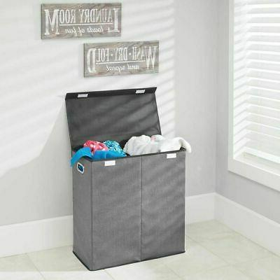 mDesign Laundry Basket Chrome Handles