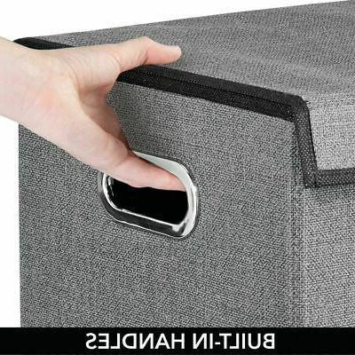 mDesign Hamper Basket Lid, Handles