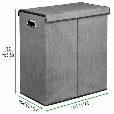 mDesign Divided Hamper Basket Handles