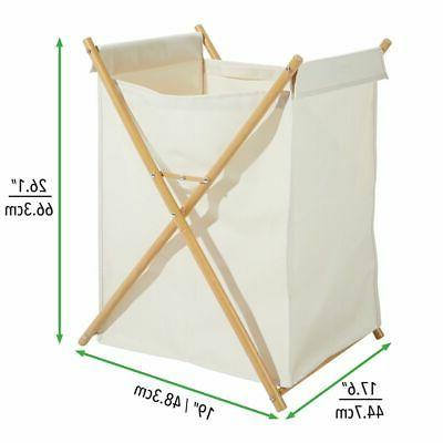 mDesign Divided Laundry Portable/Collapsible Fabric