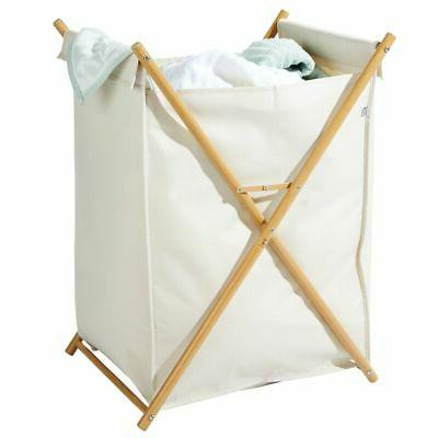 mDesign Divided Laundry Portable/Collapsible Fabric Bag