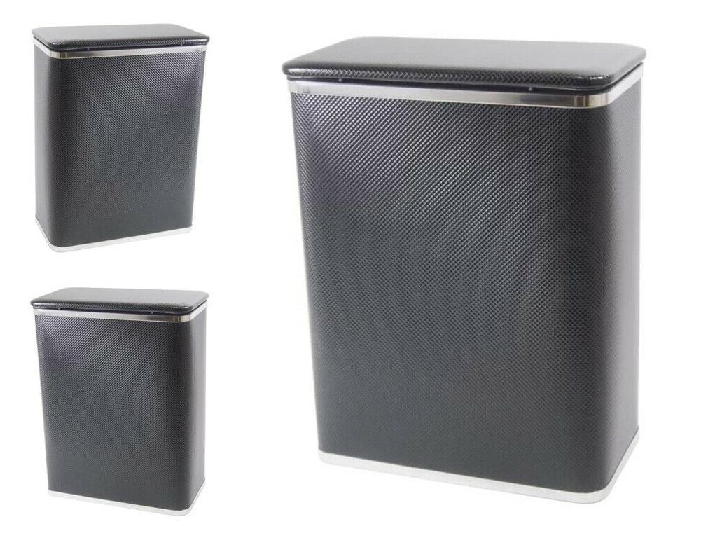 Plastic Laundry Hamper Flip Lid Bedroom Storage Cabinet Bask