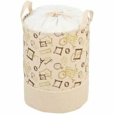 foldable jute laundry hamper basket