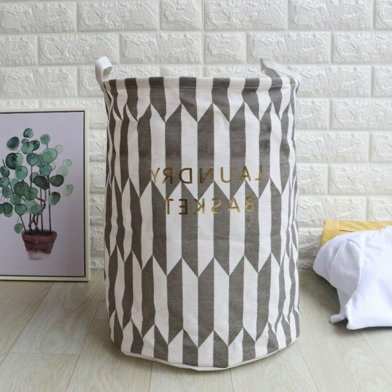 Foldable Hamper Clothes Basket Cotton Laundry