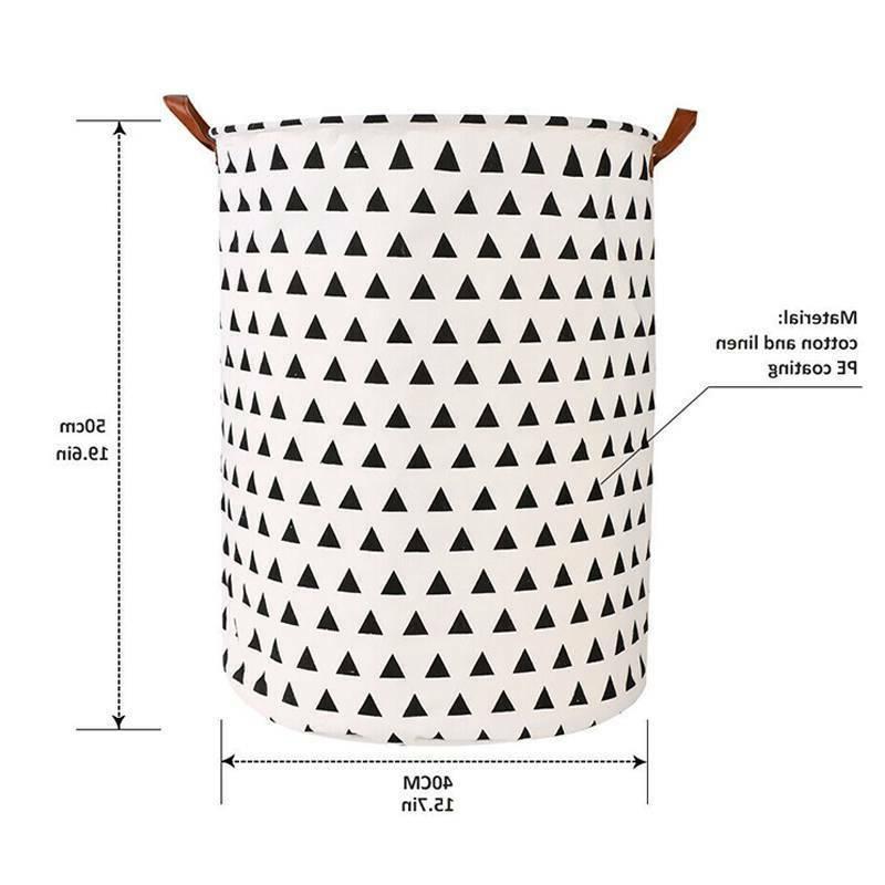 Collapsible Laundry Hamper Storage Clothes Washing Basket Organizer Home