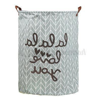 Foldable Basket Clothes Washing Bin Bathroom
