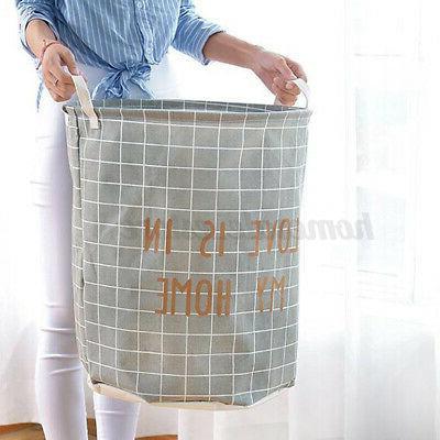 Foldable Laundry Clothes Storage Hamper Washing Bin Bathroom US