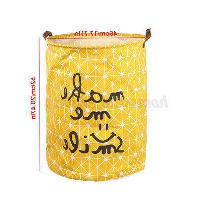 Foldable Laundry Basket Clothes Storage Washing Bin US
