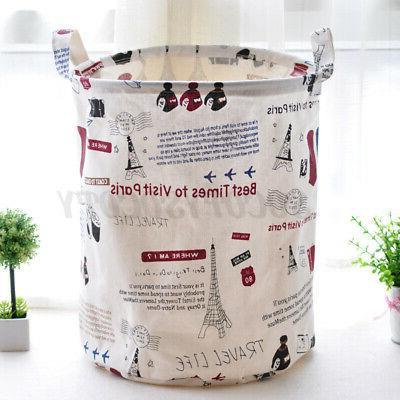 Foldable Laundry Hamper Clothes Basket Bag Storage US