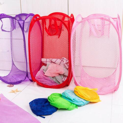 Foldable Portable Laundry Hamper Mesh