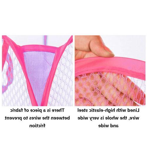 Foldable Portable Clothes Laundry Basket Bag Hamper