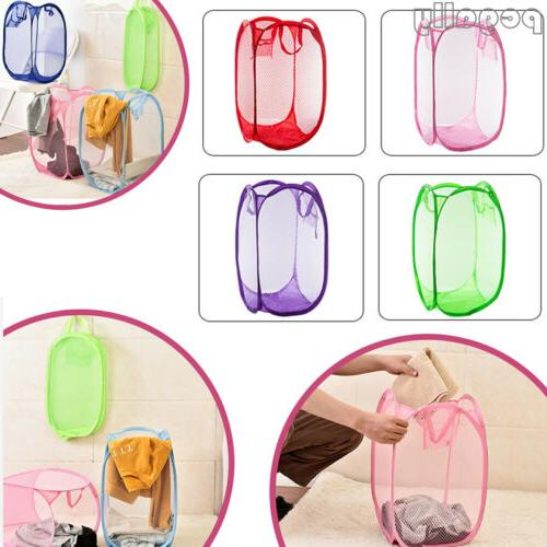 foldable portable washing clothes laundry basket bag